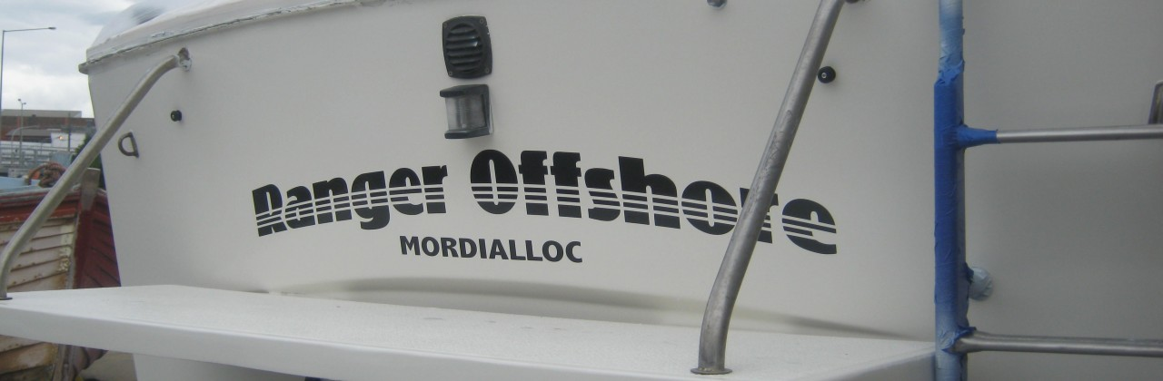 Another Boat Painted and serviced at Pompei's Marine