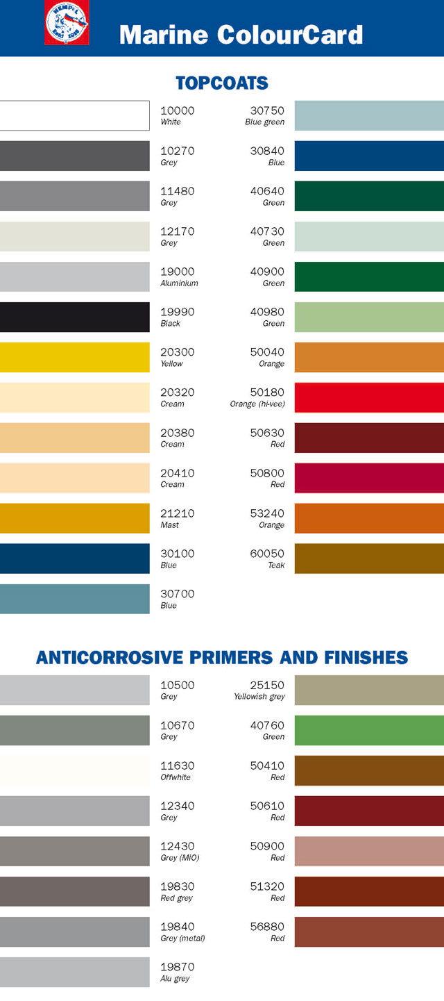 Marine color cards pompeis marine pompeis marine marine color cards marine paint colors geenschuldenfo Gallery